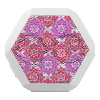 Pink Sacred Lotus Blossoms Oriental White Bluetooth Speaker