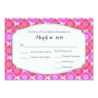 Pink Sacred Lotus RSVP Wedding Suite Card