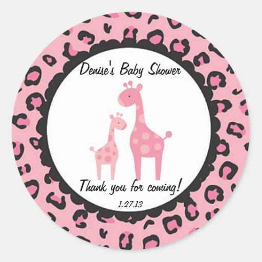Pink Safari Giraffe Sticker