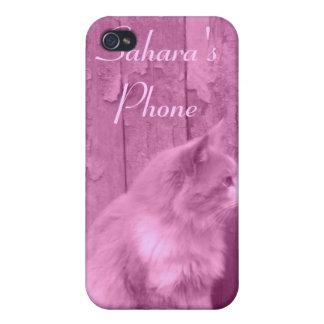 Pink Sahara (cat) *customizable* iPhone4 case
