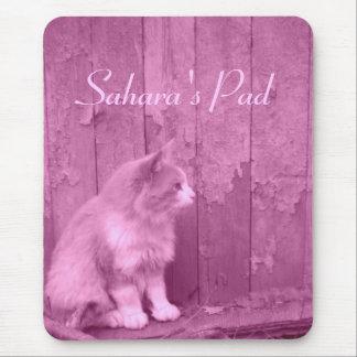 Pink Sahara (cat) *customizable* mouse pad
