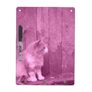 Pink Sahara Cat Dry Erase Board