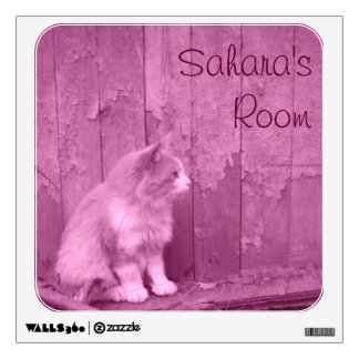 Pink Sahara Cat Wall Decal *personalizable*