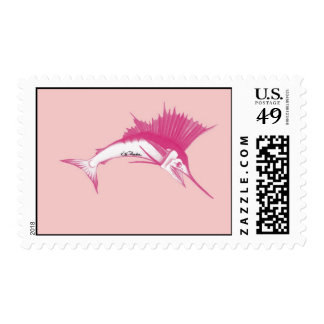 Pink Sailfish Stamps