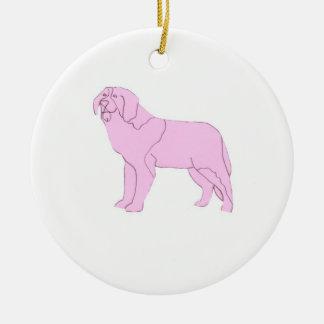 Pink Saint Bernard Ornament
