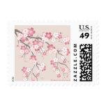 Pink Sakura Cherry Blossom Stamp