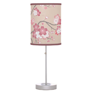 Pink Sakura Cherry Blossom Table Lamp