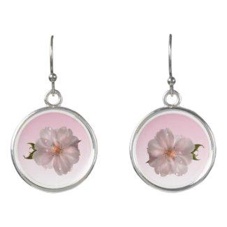 Pink Sakura Flower Girly Floral Drop Earrings