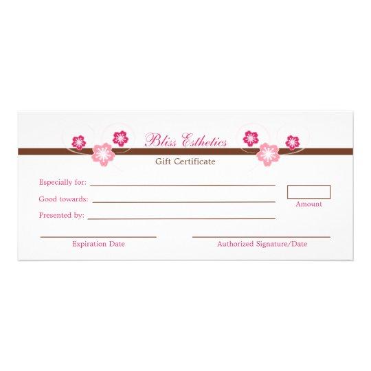 Pink sakura gift certificate template zazzle pink sakura gift certificate template yadclub Choice Image