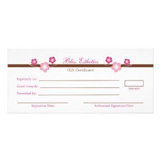 Pink Sakura Gift Certificate Template Personalized Rack Card