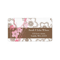 Pink Sakura Wedding Label