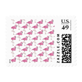 Pink Salmon - Flamingo Pattern Postage