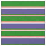 [ Thumbnail: Pink, Salmon, Green, Dark Slate Blue, and White Fabric ]