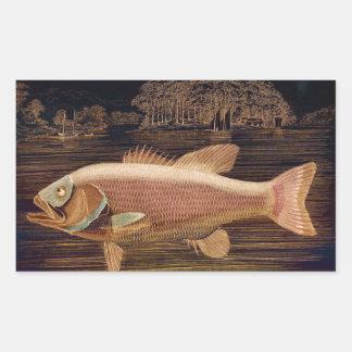 Pink Salmon Rectangular Sticker