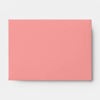 Pink Salmon Solid Color Envelopes