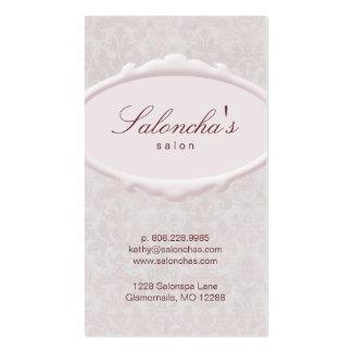 Pink Salon Business Card spa damask frame