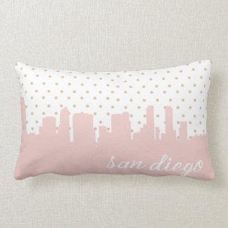pink San Diego city skyline Lumbar Pillow