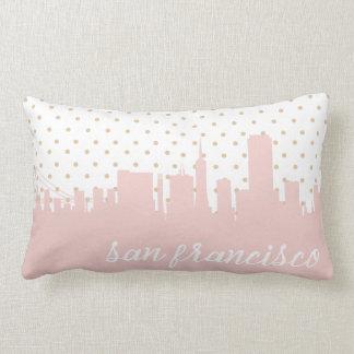 pink San Francisco, CA polka dot Lumbar Pillow