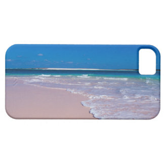 Pink sand beach at Conch Bay, Cat Island, iPhone 5 Case