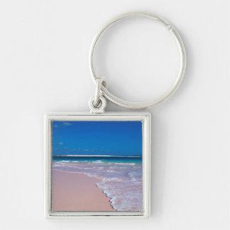 Pink sand beach at Conch Bay, Cat Island, Keychain