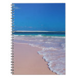 Pink sand beach at Conch Bay, Cat Island, Spiral Note Book