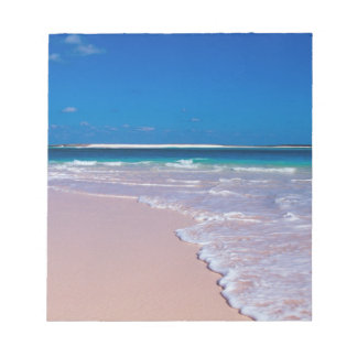 Pink sand beach at Conch Bay, Cat Island, Notepad