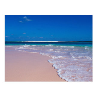 Pink sand beach at Conch Bay, Cat Island, Postcard