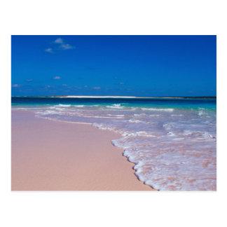 Pink sand beach at Conch Bay, Cat Island, Postcard