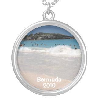 Pink Sand Beach , Bermuda, 2010 Silver Plated Necklace