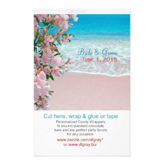 Pink Sand Beach Candy Wrappers Flyer
