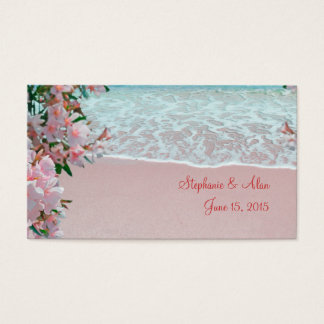 Pink Sand Beach Place Cards