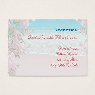 Pink Sand Beach Reception Card