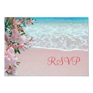 "Pink Sand Beach RSVP Card 3.5"" X 5"" Invitation Card"