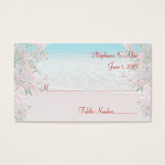 Pink Sand Beach Wedding Place Cards