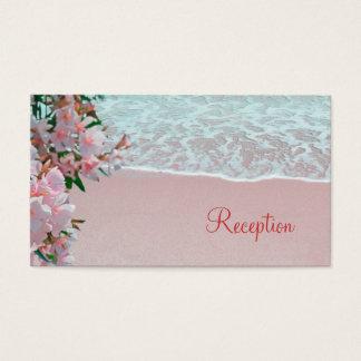 Pink Sand Beach Wedding Reception Business Card
