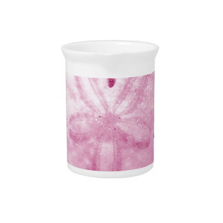 Pink Sand Dollar Beverage Pitcher