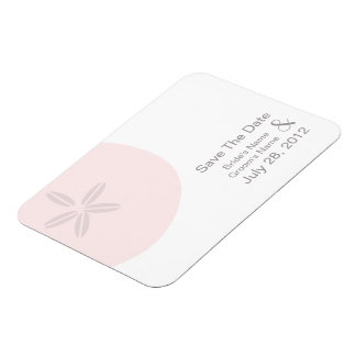 Pink Sand Dollar Wedding Save The Date Magnet