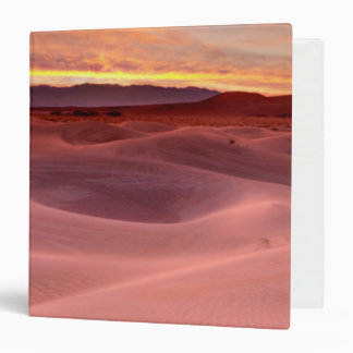 Pink sand dunes, Death Valley, CA 3 Ring Binder