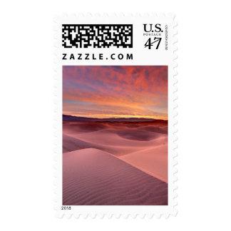 Pink sand dunes, Death Valley, CA Postage