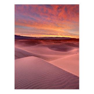 Pink sand dunes, Death Valley, CA Postcard