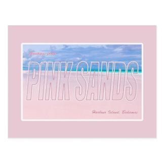 Pink Sands, Harbour Island, Bahamas Postcard