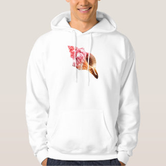 Pink Sandy Conch Shell Hoodie