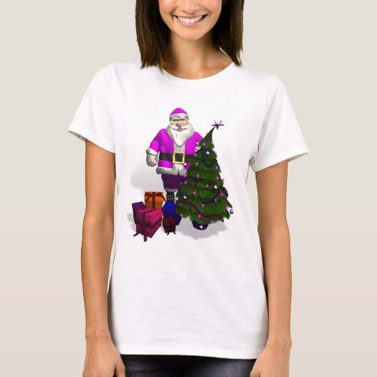 Pink Santa Claus T-Shirt
