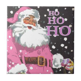 Pink Santa Claus Tile
