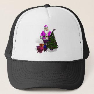 Pink Santa Claus Trucker Hat