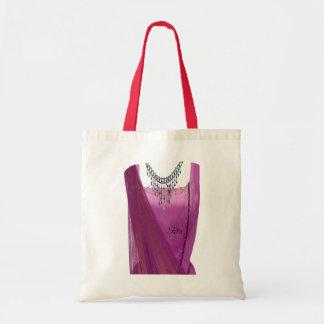 Pink Sari Tote Bag