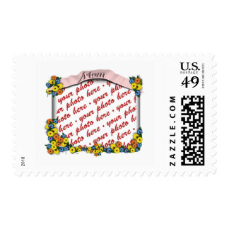Pink  Sash with Floral Photo Frame Postage Stamp