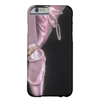 pink satin ballet toe shoes barely there iPhone 6 case