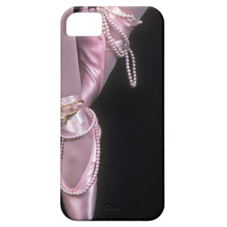 pink satin ballet toe shoes iPhone SE/5/5s case