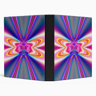 Pink Satin Bow-Tie Fractal 3 Ring Binder